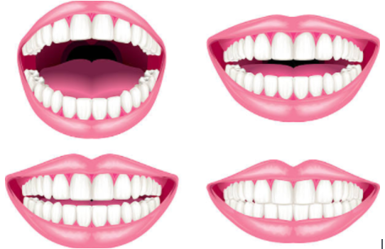 Mouth and teeth graphics